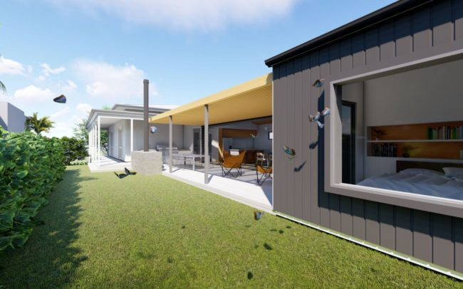 outside view of proposed addition | Auckland Architect Designed House
