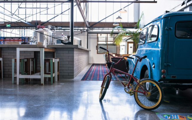 Restaurant with BMX & Morris Minor | Brothers Beer | Brewery Architecture